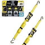 SmartStraps 14-Foot Ratchet Straps (2pk)-5,000 lbs Break Strength-1,667 lbs Safe Work Load Commercial Tie-Downs Designed for