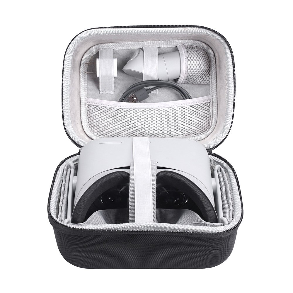 Hard EVA Travel Case for Oculus Go Virtual Reality Headset and Controllers Accessories Carry Bag Protective Storage Box (Black) Esimen