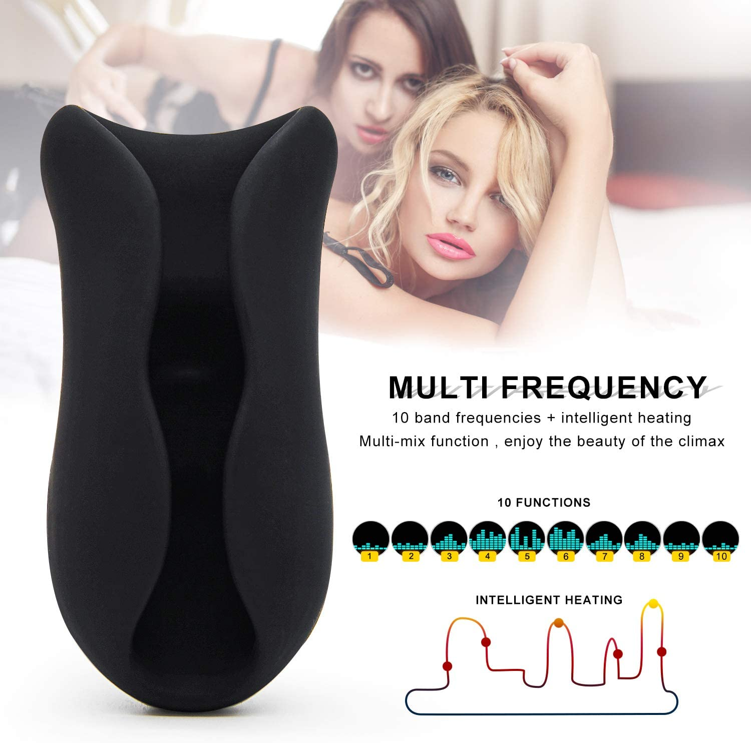Handsfree Mástǚrbátor Pô`ckēt Pussycat Male-Mástǚrbátor Deep Throat Toys Automatic Heating with 7 Modes Male self-Pleasure Toys for Mens Realistic 3D Sex-y Underwear for Men T-Shirt
