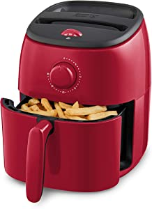 Dash Tasti-Crisp Electric Air Fryer + Oven Cooker with Temperature Control, Non-stick Fry Basket, Recipe Guide + Auto Shut Off Feature, 1000-Watt, 2.6 Quart - Red (Renewed)