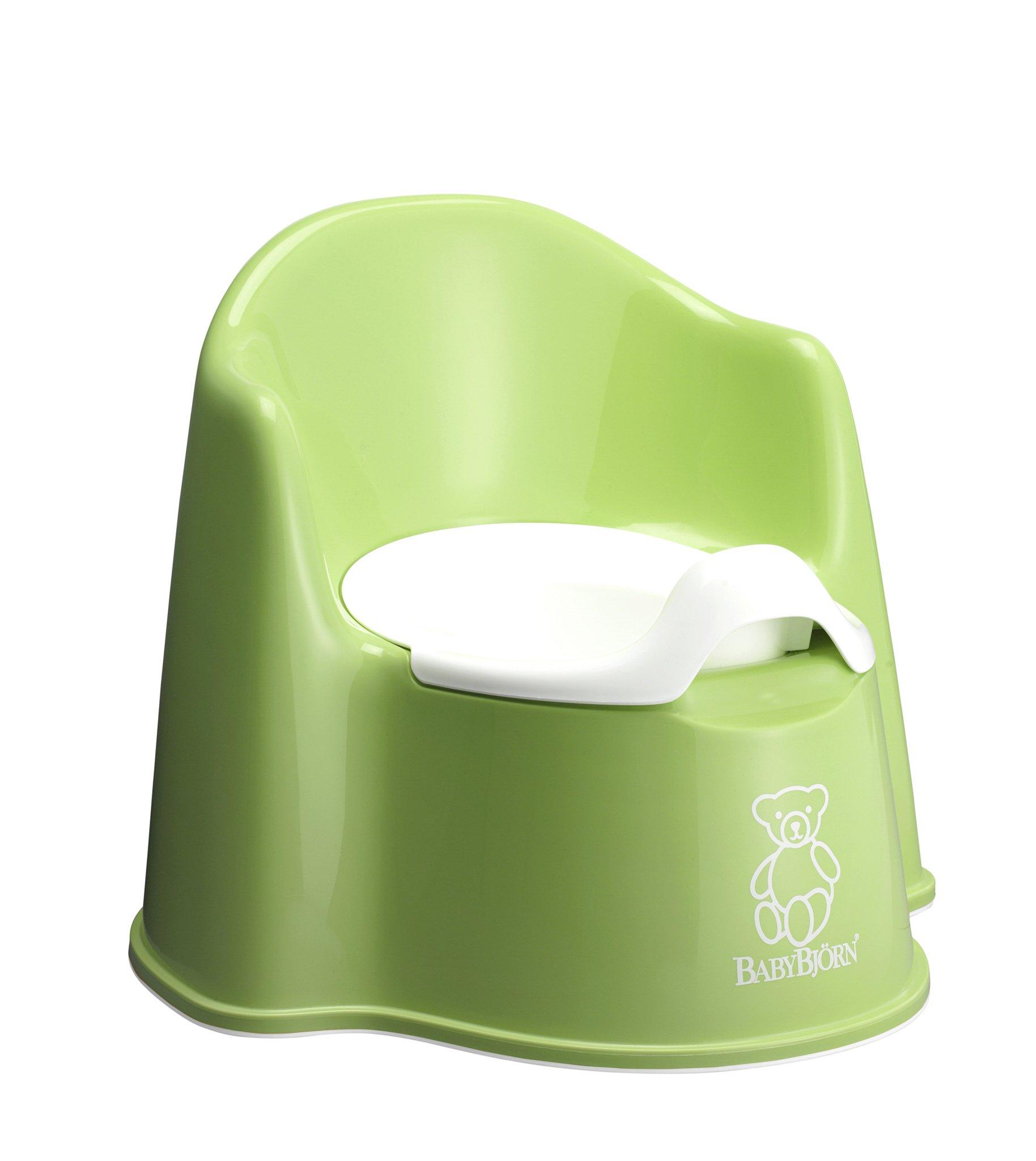 BABYBJORN Potty Chair, Green/White