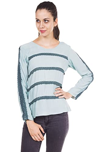 9teenagain Casual Top túnica de algodón de manga larga de las señoras de la túnica - Tamaño disponible