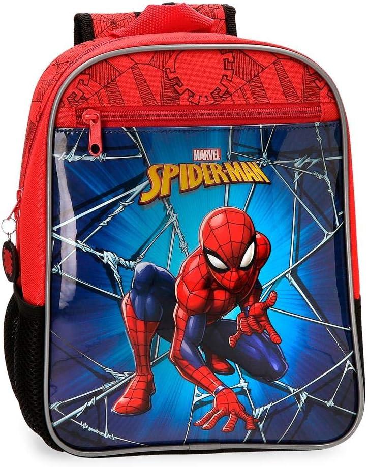 Marvel Spiderman Black Sac à dos enfants 28 centimeters 6.44 Multicolore (Multicolor)