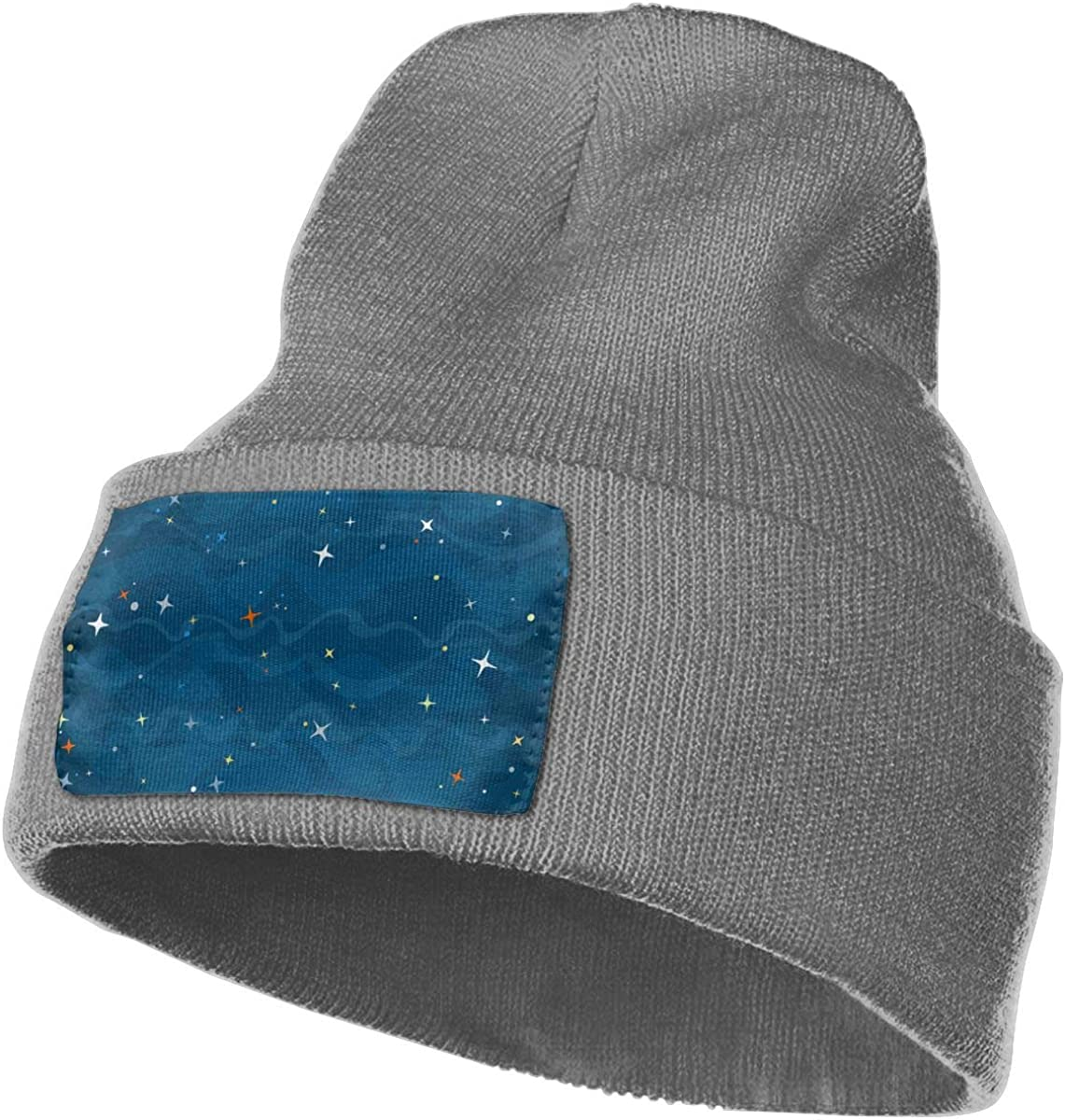 Yubb7E Outer-Space Warm Knit Winter Solid Beanie Hat Unisex Skull Cap
