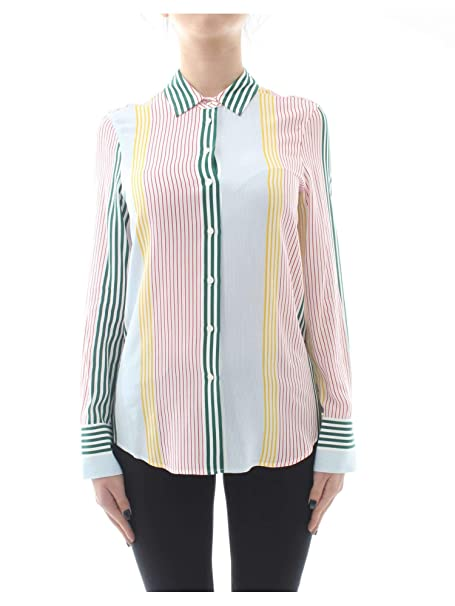 newest 0b360 5ab89 Tommy Hilfiger Da Donna Camicia a Righe Fleur Multi Colorata ...