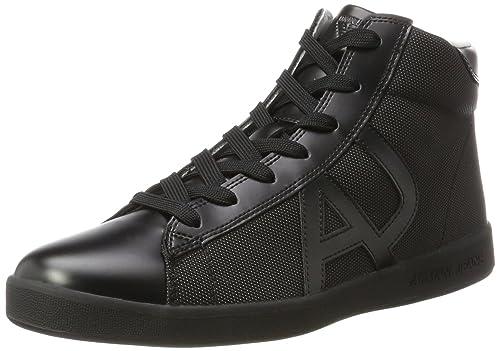best loved b16b0 d79f7 Armani Jeans Men s Sneaker High Cut Hi-Top Trainers, Black (Nero 00020), 8.5  UK  Amazon.co.uk  Shoes   Bags