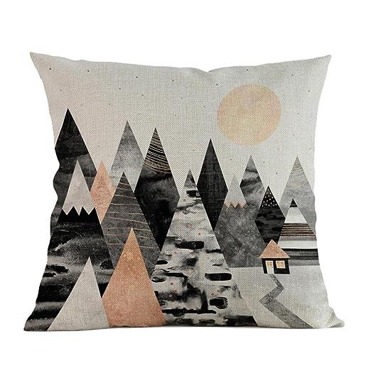 Decor Funda de almohada, estampado de montaña para sofá ...