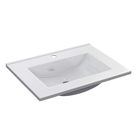 Lavabo Resina Blanco.Arkitmobel Lavabo Resina Blanco 61 5x46x18 Cm