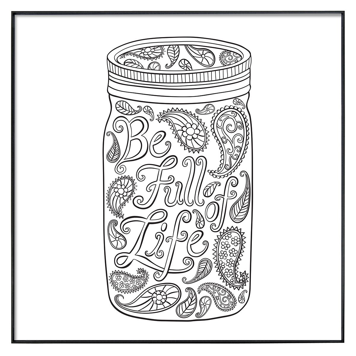 Amazon MCS Time Out Color In Framed Adult Coloring Pages Mason Jar Designs Includes Format Frames 12 By Inch