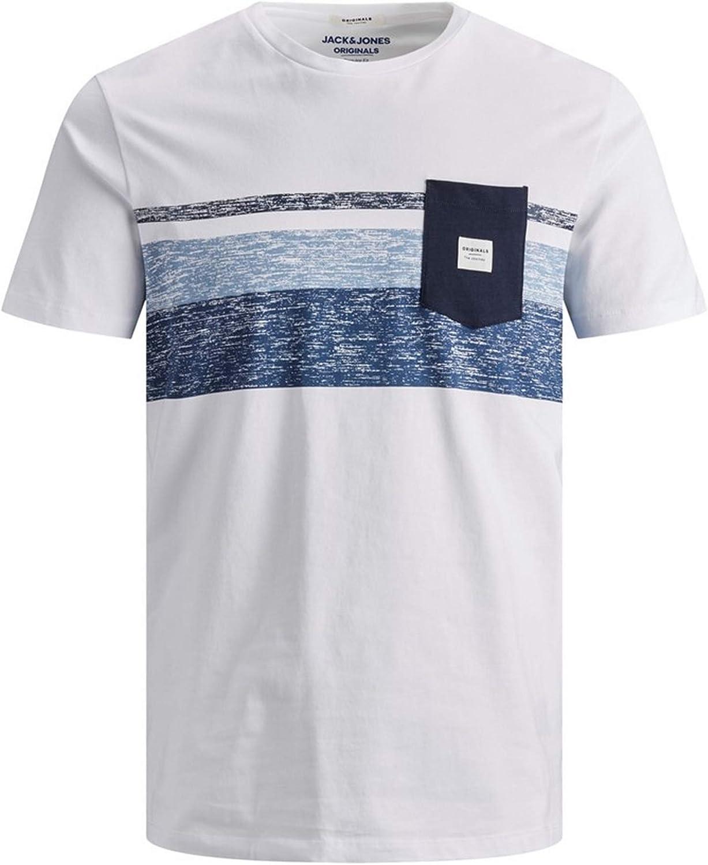 Camiseta Jack&Jones Hombre S Blanco 12164449 JORLANGLEY tee SS Crew Neck White Slim: Amazon.es: Ropa y accesorios