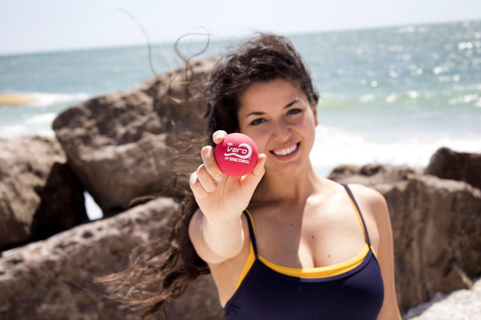 Frescobol Fiberglass Beach Paddleball Paddle Set, Official Ball, Bag by Frescobol (Image #4)