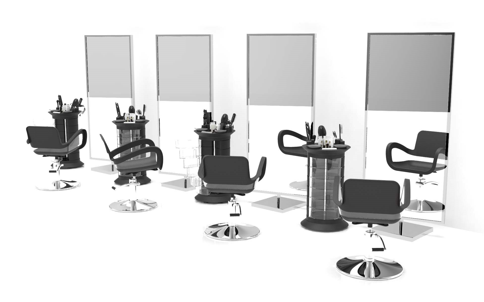Artmequid 360 Beauty Salon Trolley, Black