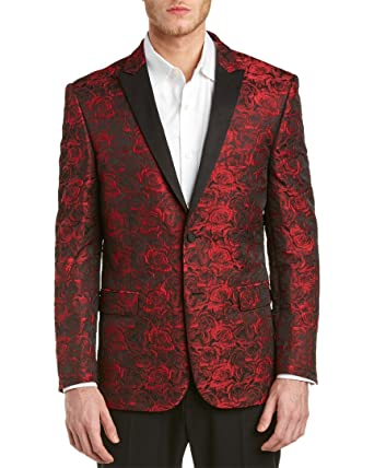 Amazon.com: V19.69 Italia By Versace 19.69 Men's Slim Fit Red Rose ...