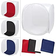 Esddi 32x32 inch/80x80cm Photography Photo Studio Shooting Tent Diffusion Softbox Cube Light Tent with 4 Backdrops (Red Blue Black White)