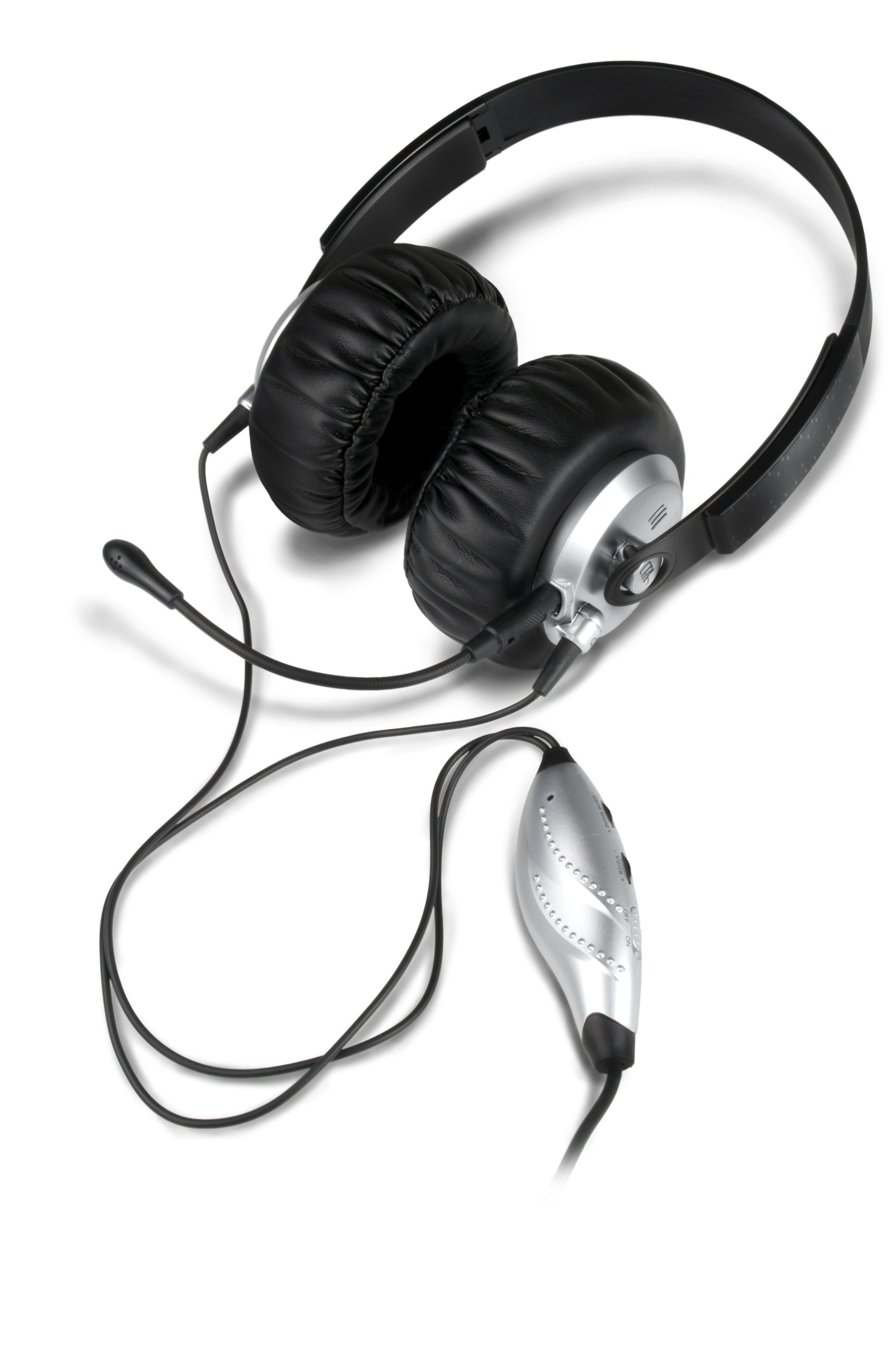 PS3 Gaming Headset for Adjustable Game Audio and Voice Chat by CTA Digital