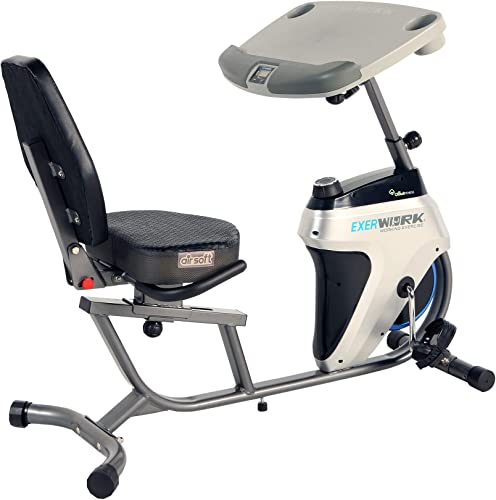 Exerpeutic 2500 Bluetooth 3 Way Adjustable Desk Recumbent Exercise Bike