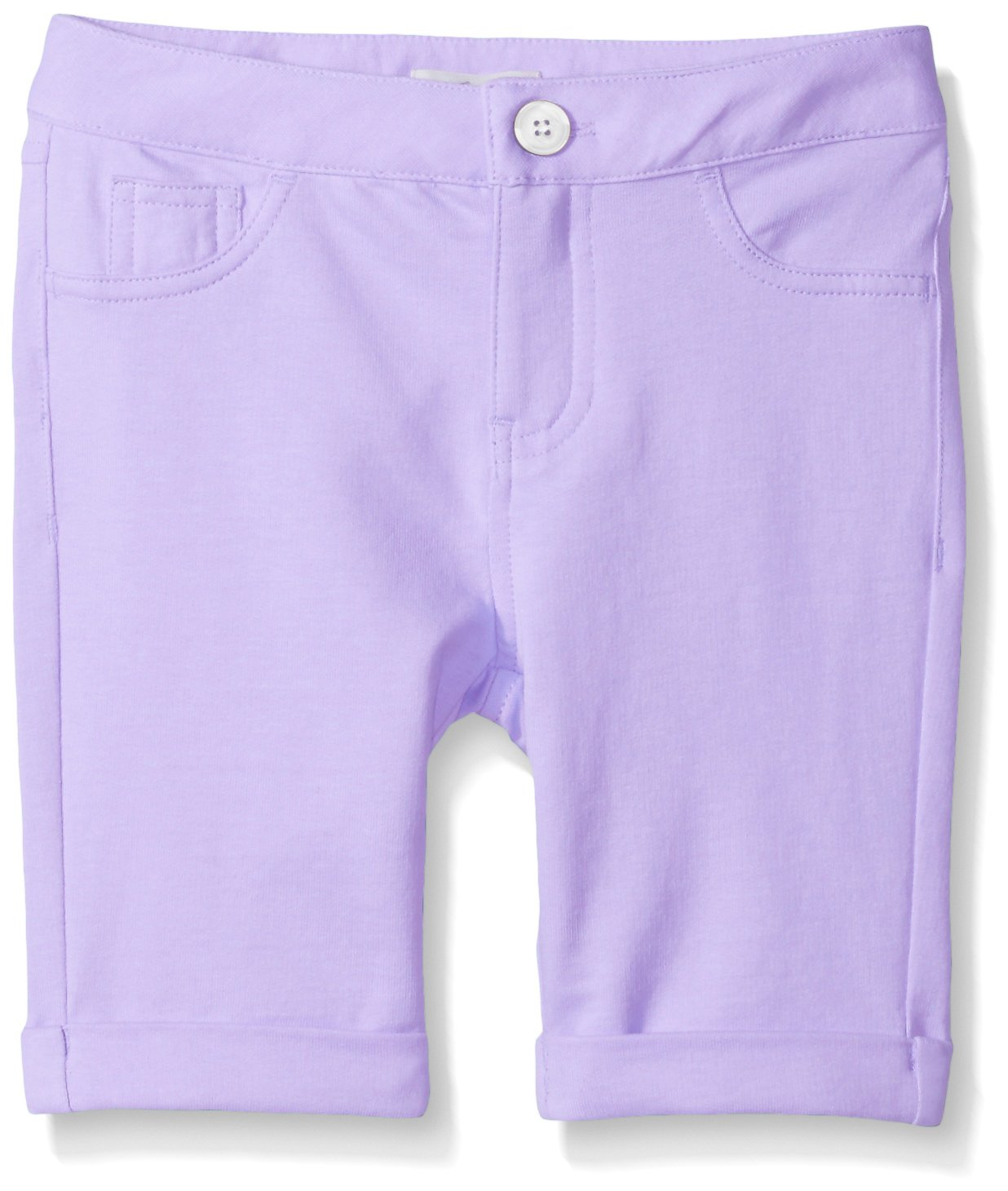 Scout + Ro Big Girls' Five-Pocket Knit Bermuda Short, Lavender Sunset, 10