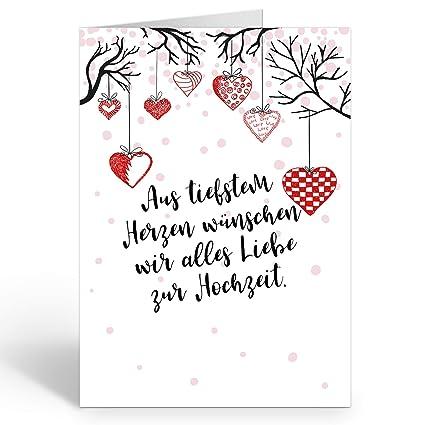 Große Glückwunschkarte Zur Hochzeit Xxl A4 Hängende Herzen Mit Textmit Umschlagedle Design Klappkartehochzeitskarteglückwunschehepaarextra