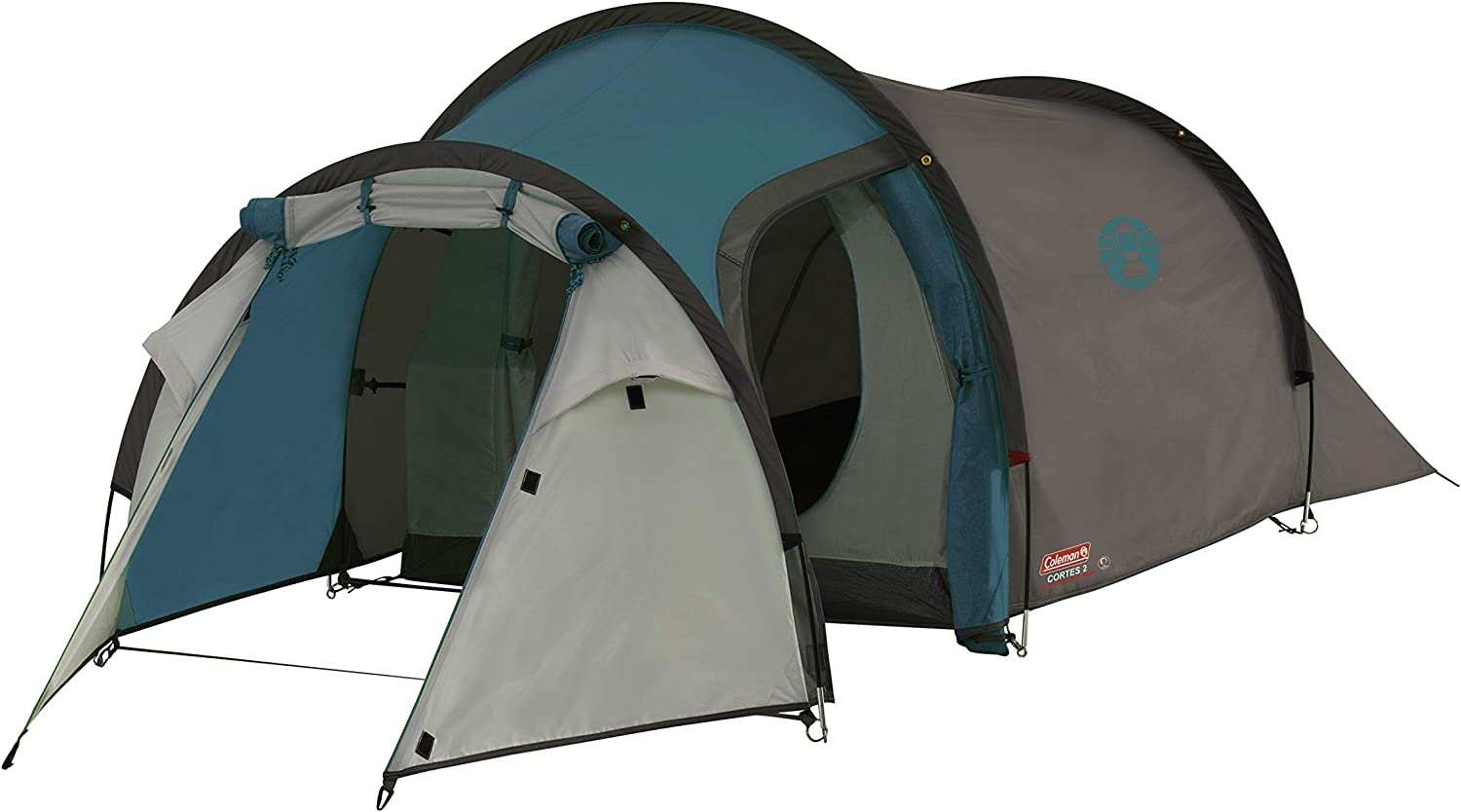 Coleman Cortes 2 Tent, 2 Man, 1 Bedroom Hiking, Absolutely Waterproof Lightweight Camping Tent with Sewn in Groundsheet
