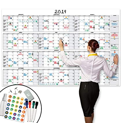 Giants Calendar 2020 Amazon.: Large Dry Erase Wall Calendar   58