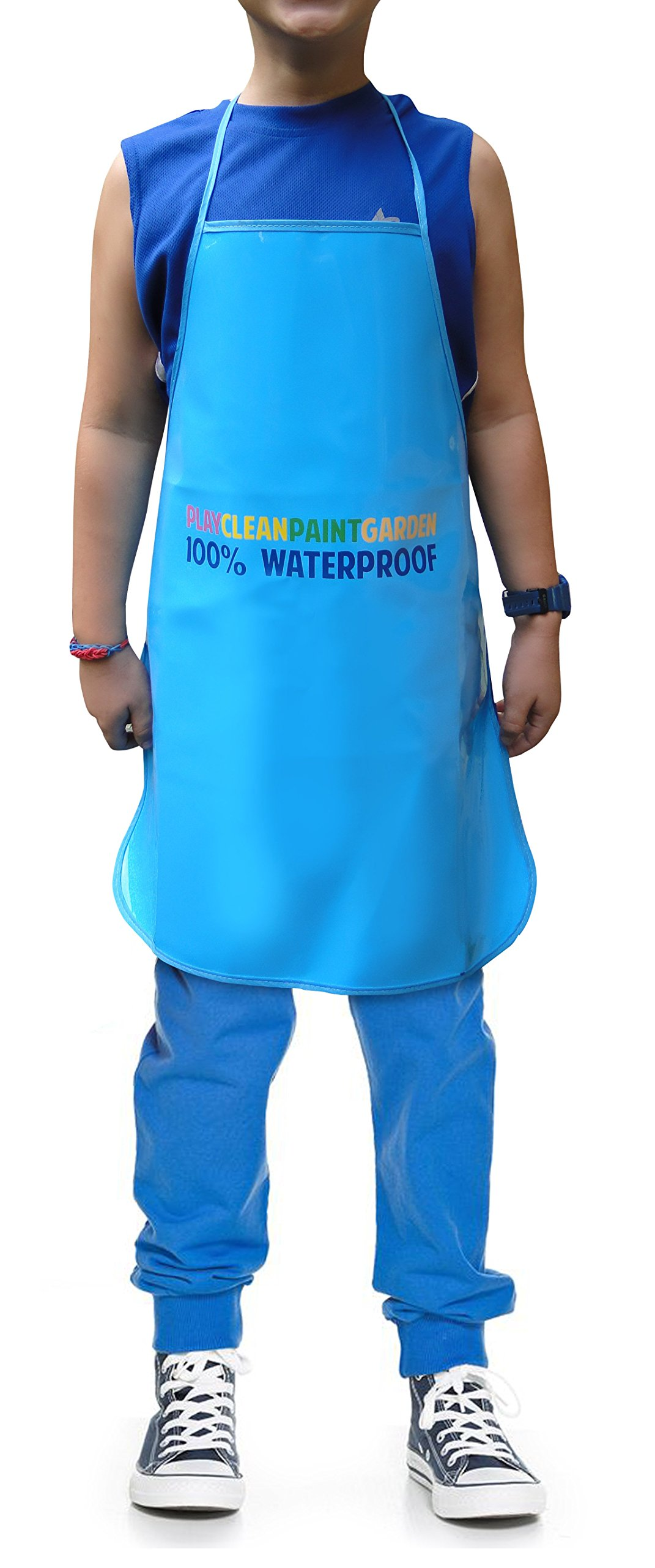 Children's Artists Aprons Heavy Duty Reusable PVC Waterproof Apron - Great for Cooking, Classroom, Playing, Community Events, Art & Crafts, Painting and More