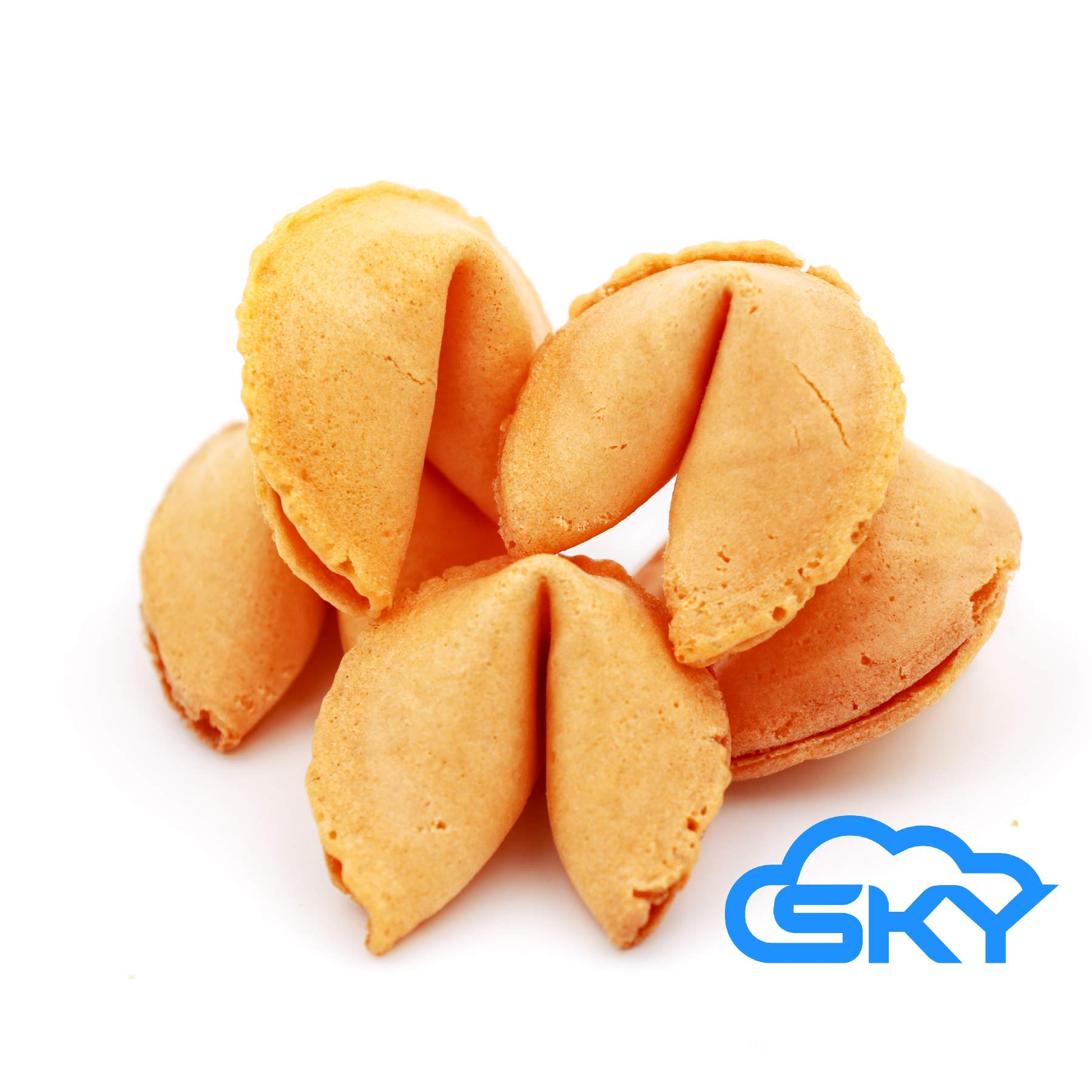 Sky Premium and Fresh Fortune Cookies Individually Wrapped, Bulk 100 Pcs, Perfect for Snacks, Lunch, Picnic, Birthdays, Graduation, Parties | Product of USA by Sky Ecommerce (Image #2)