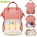 BAYBEE Wide Open Designer Baby Multi-Function Waterproof Diaper Insulated Pocket Backpack for Mom and Dad