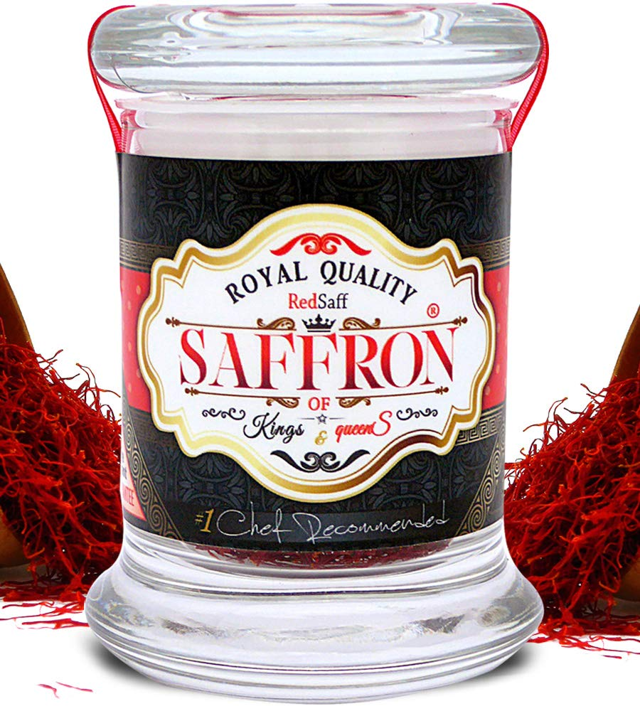 Redsaff Afghan Saffron Threads (Fresh Harvest) Professional Chef Grade Quality - Potent Saffron Spice For Cooking (3 grams) by Redsaff Saffron (Image #1)