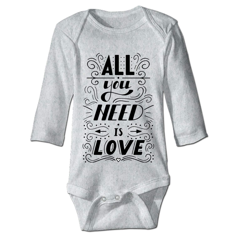 Love Baby Infant Boys Girls Fun Print Bodysuit
