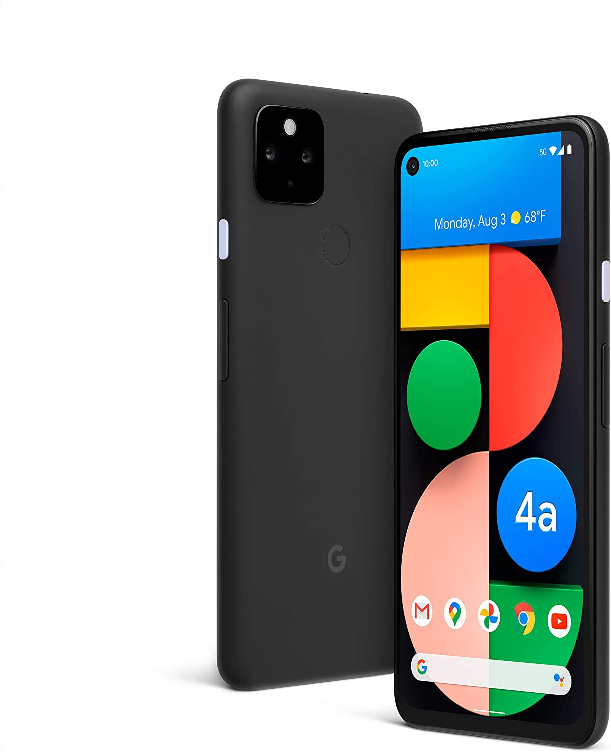 Google Pixel 4a with 5G - Android Phone - New Unlocked Smartphone with Night Sight and Ultrawide Lens - Just Black