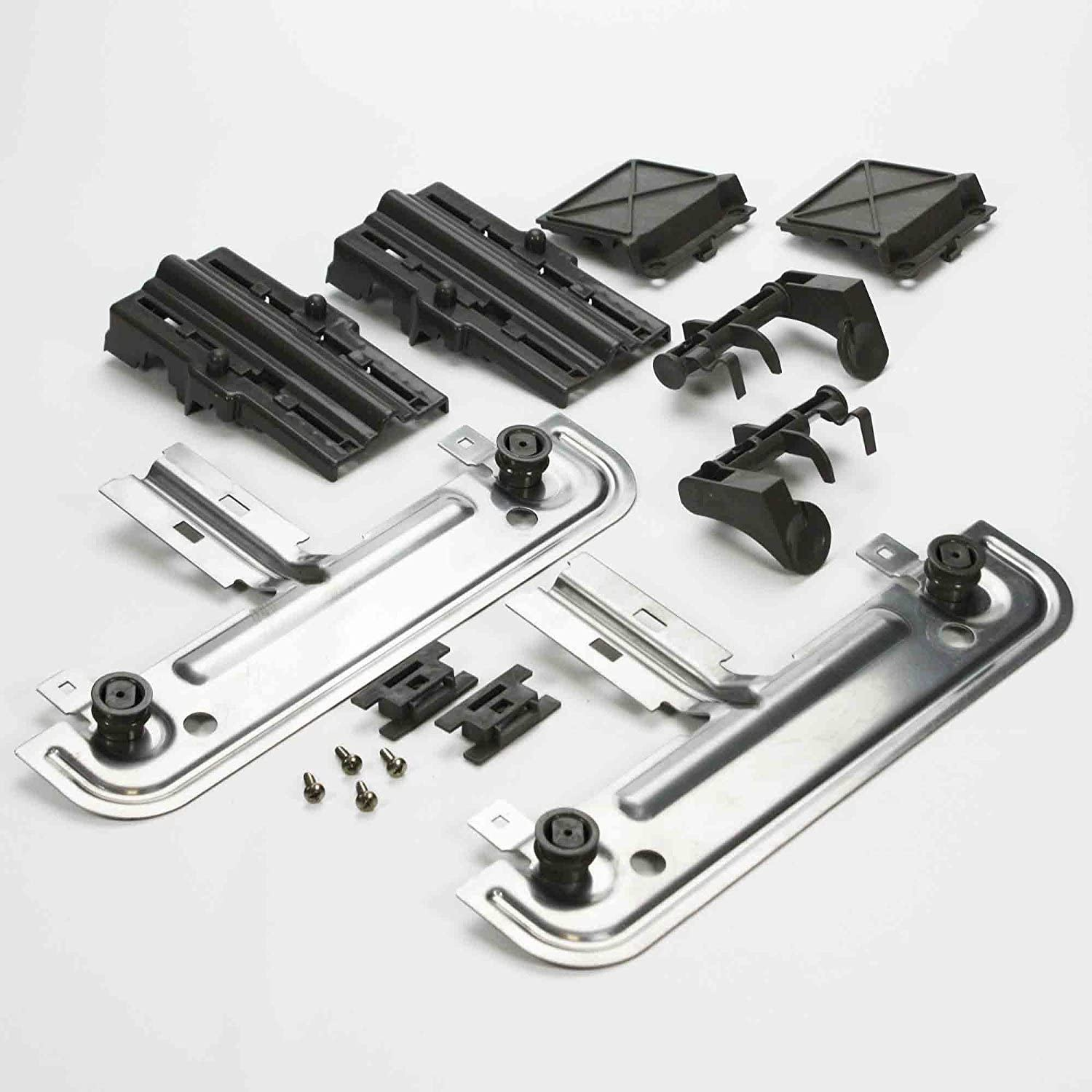 ConPus 2PACK Dishwasher Top Rack Parts Compatible with Whirlpool,Kenmore Elite Dishwasher Top Rack Adjuster Kit,W10350376 Replacement for Dishwasher Upper Rack Parts