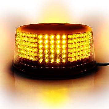 12V Magnetic LED Amber Strobe Beacon Light Emergency Hazard Flashing Bar Car Van