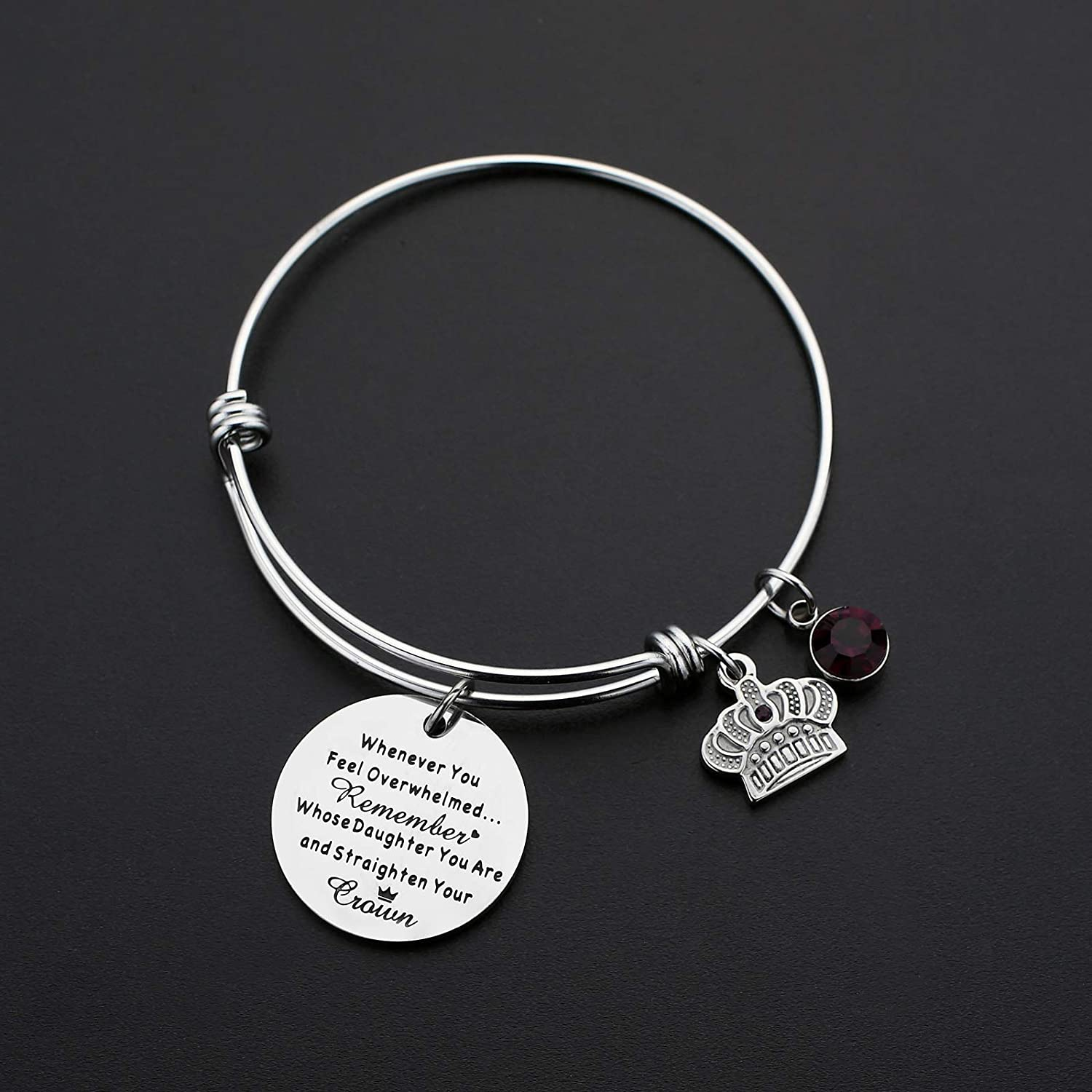 Remember Whose Daughter You are and Straighten Your Crown Charm Daughter Bracelet Whenever You Feel Overwhelmed