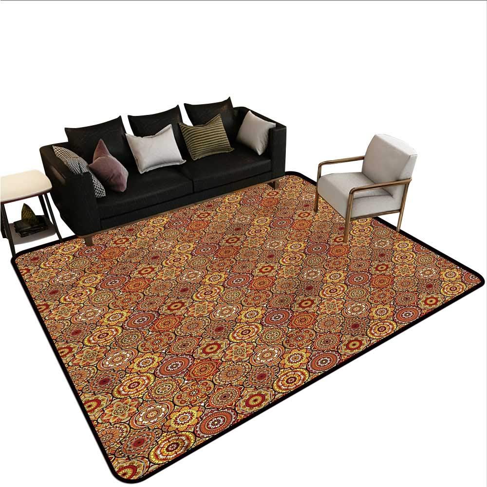 "Moroccan,Anti-Slip Cooking Kitchen Carpets 48""x 60"" Floral Motifs Ottoman Non-Slip Area Rug Pad 71zYlFQLkzL._SL1000_"