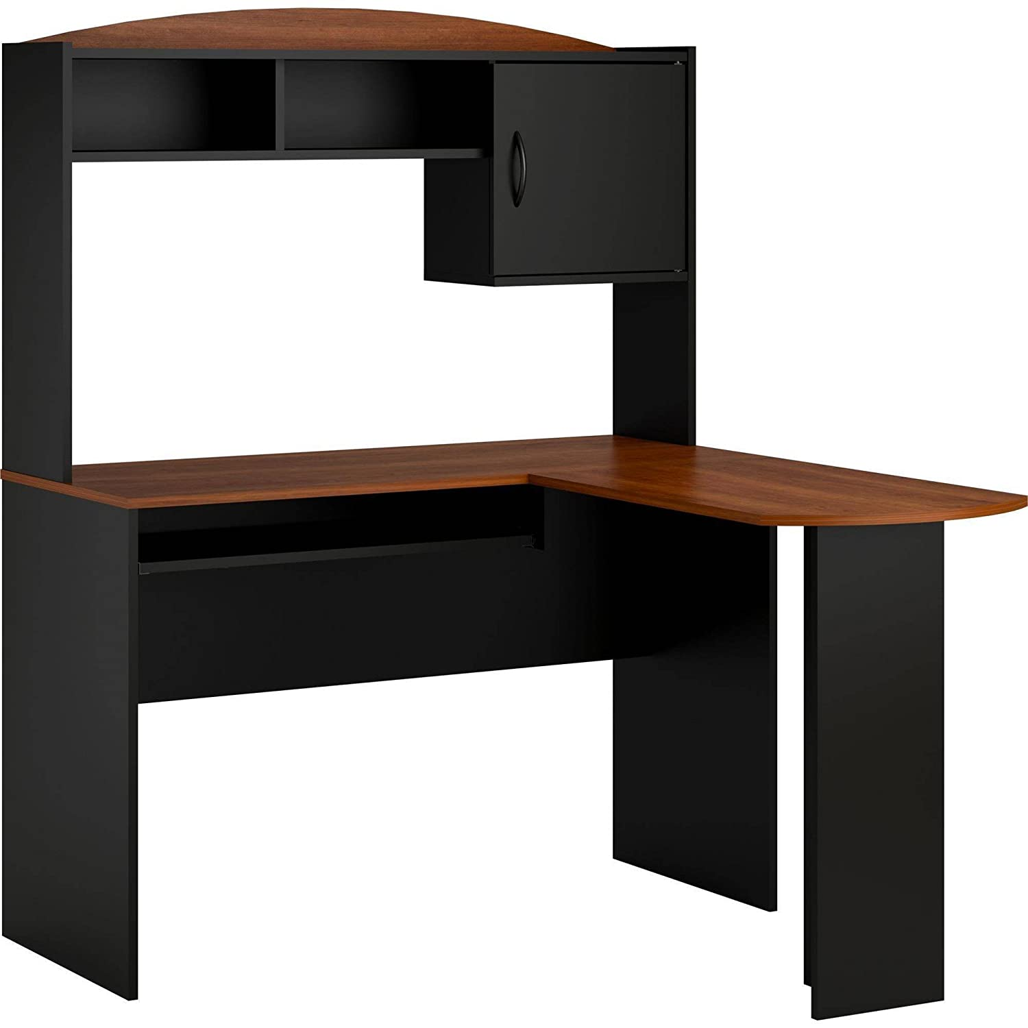 Amazon Home And Office Wooden L Shaped Desk With Hutch A Space Saving Corner Table Furniture Featuring Multiple Storages Also Available In