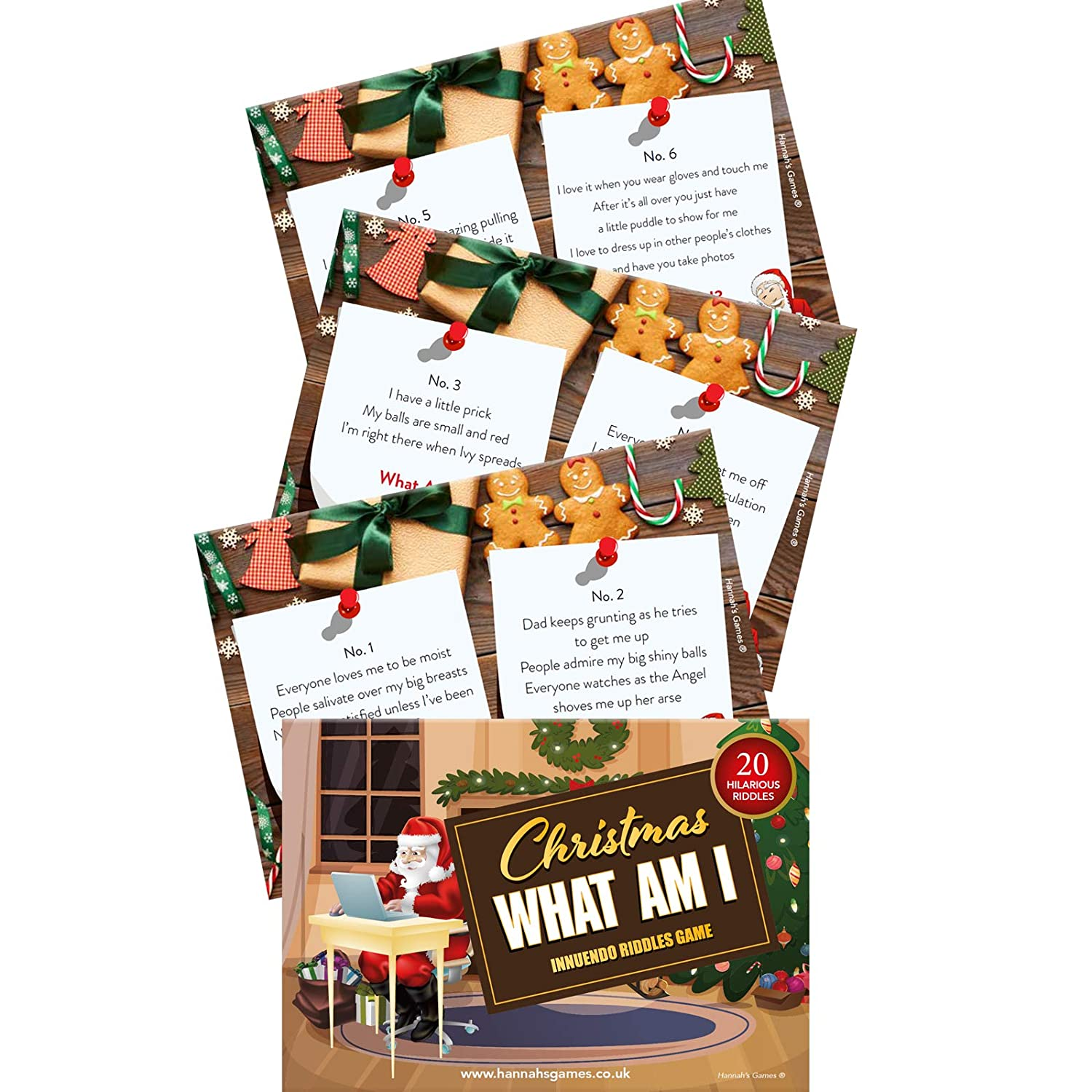 CHRISTMAS WHAT AM I INNUENDO - Christmas Games for Adults - 20 Dirty ...