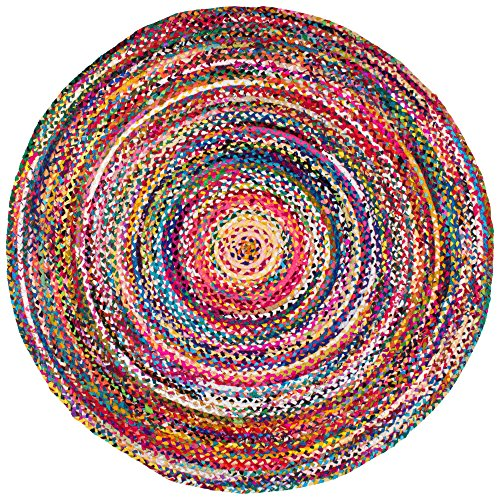 71zYmPywgpL - nuLOOM Casual Handmade Braided Cotton Round Area Rug, 6'