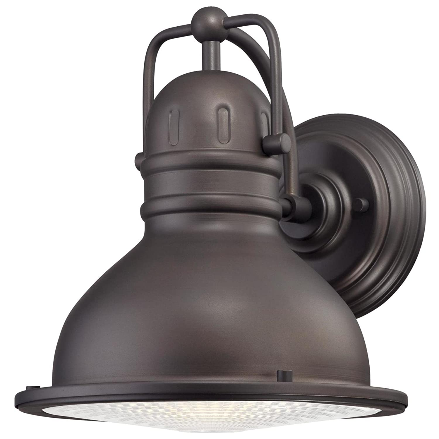 Westinghouse 6204600 Orson One-Light LED Outdoor Wall Fixture, Oil Rubbed Bronze Finish with Clear Prismatic Lens