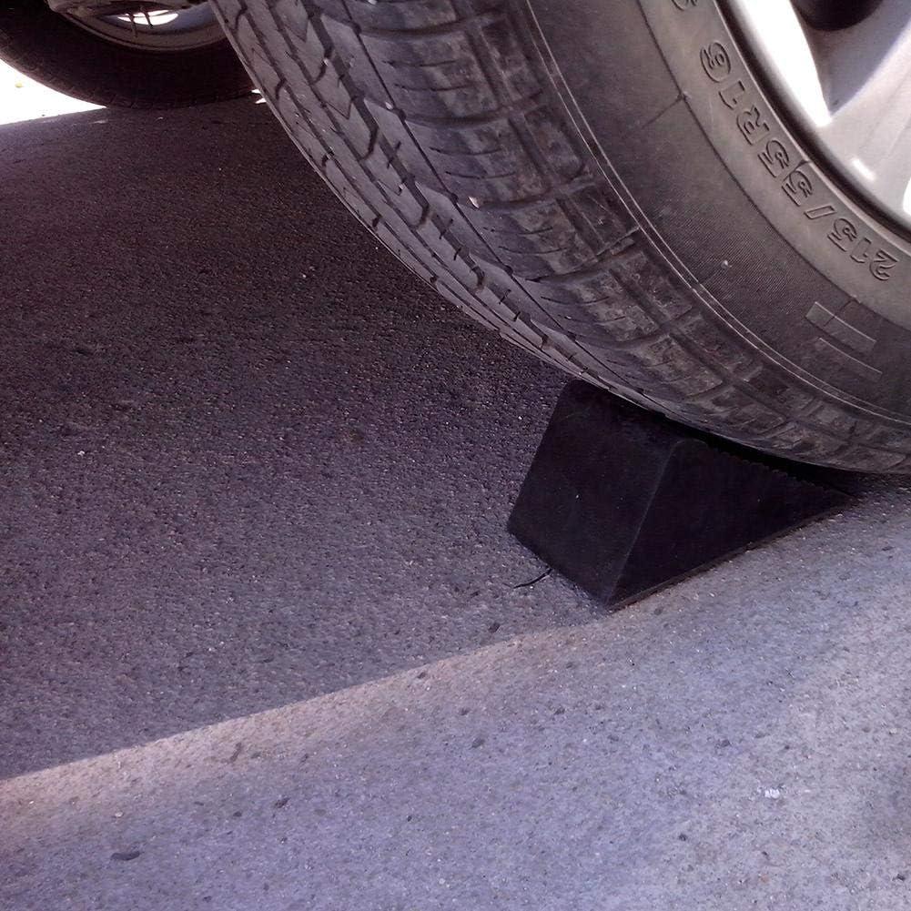 Maliyaw Antislip Vehicle Car Truck Wheel Tire Chock Stop Block Rubber wheel Anti-slip device Black