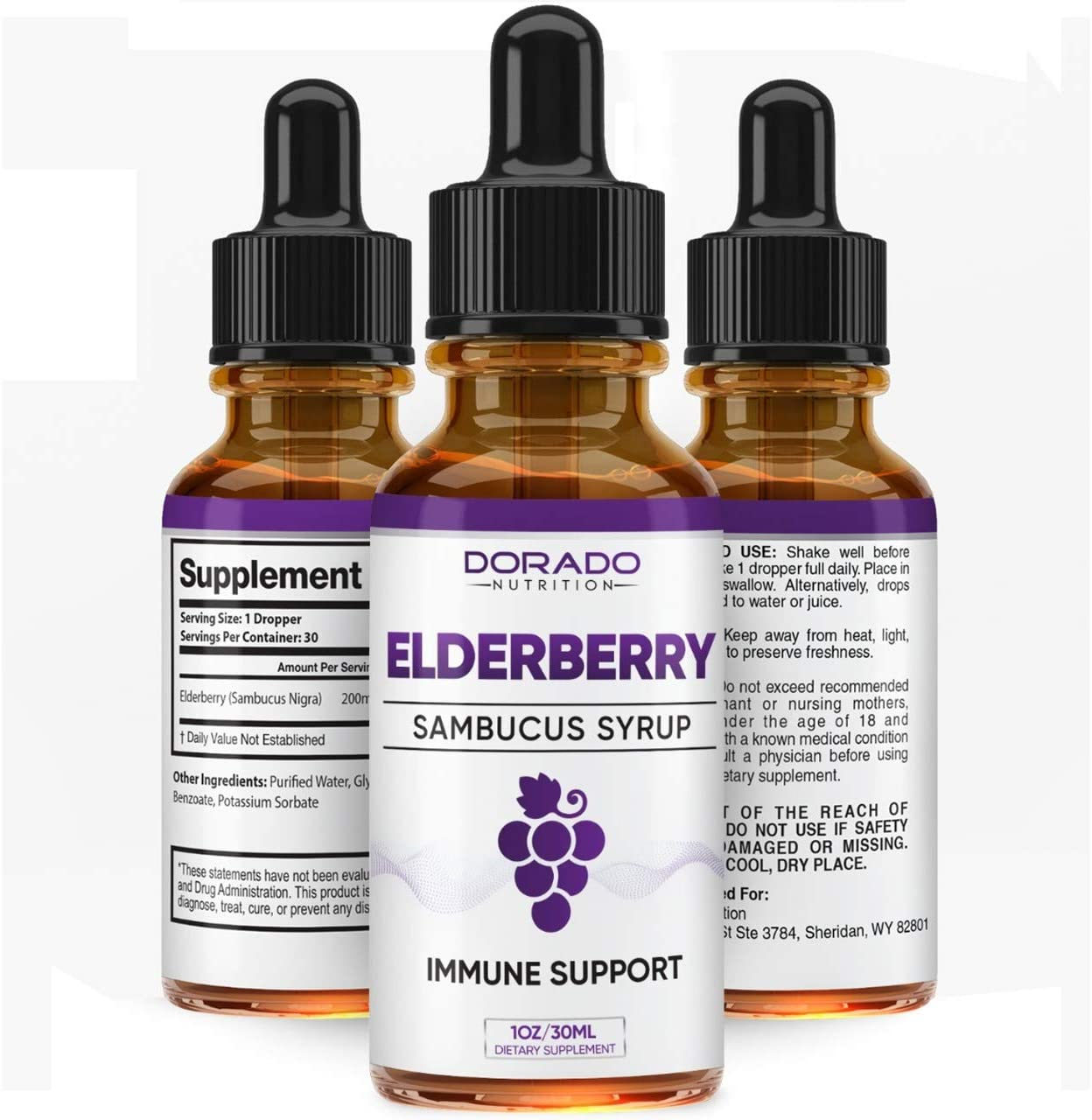 Organic Elderberry Syrup Extra Strength Liquid Extract