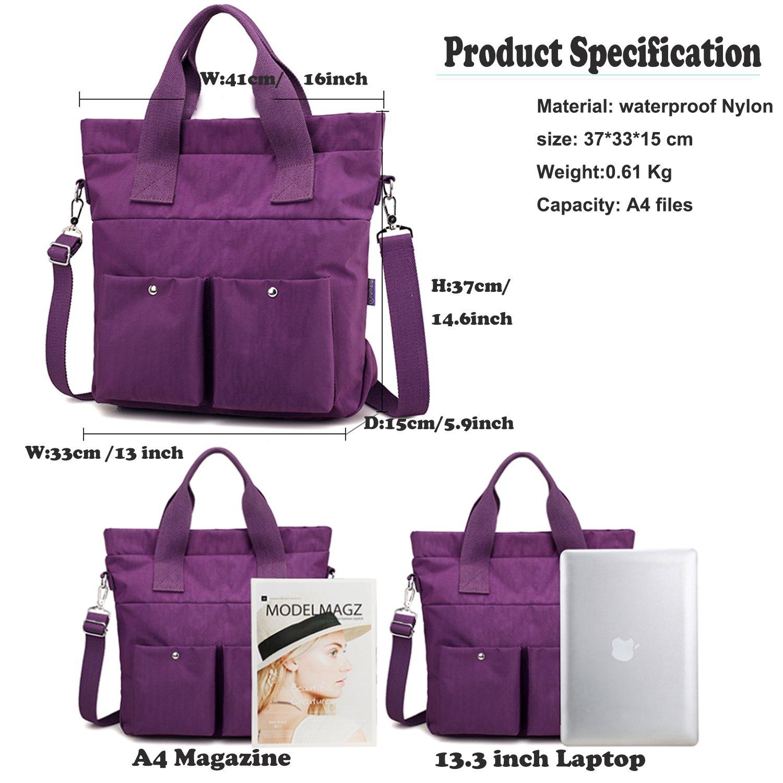 Women Nylon Shoulder Bag Satchel Handbag, Myhozee Water Repellent Travel Work Tote Bag Cross body Bag by Myhozee (Image #3)