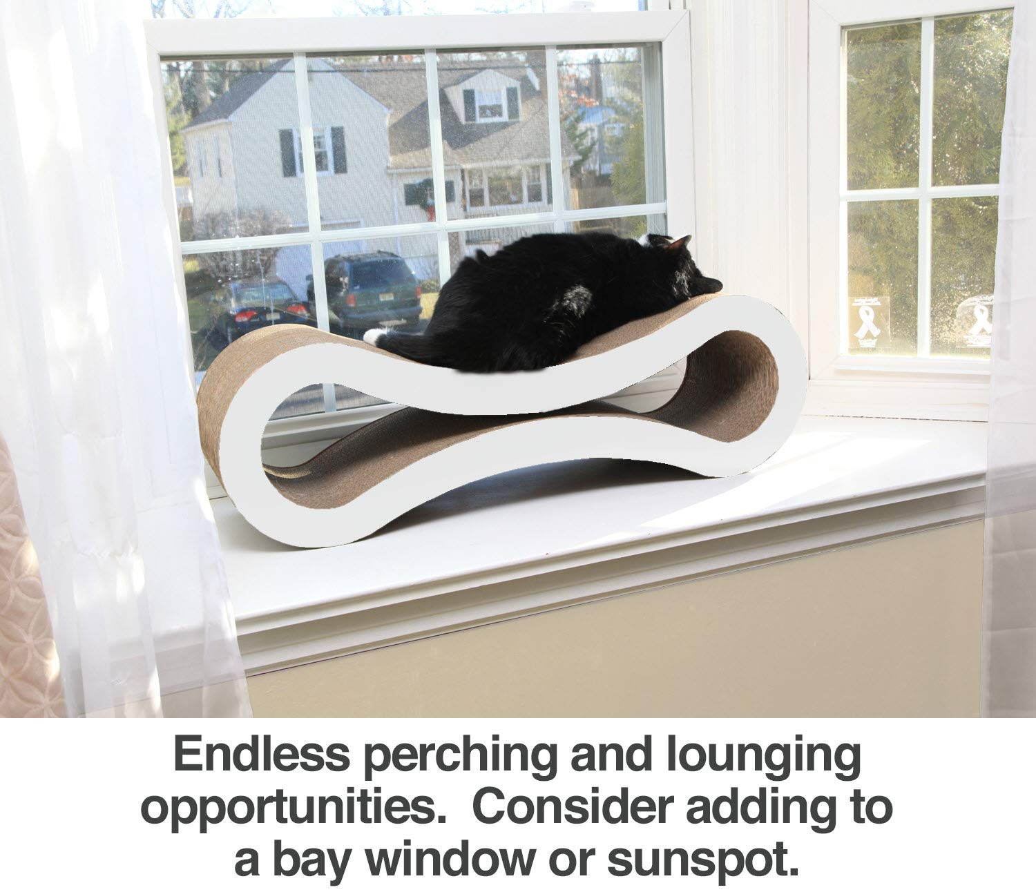 . PetFusion Ultimate Cat Scratcher Lounge Superior Cardboard /& Construction, significantly outlasts cheaper alternatives Walnut Brown