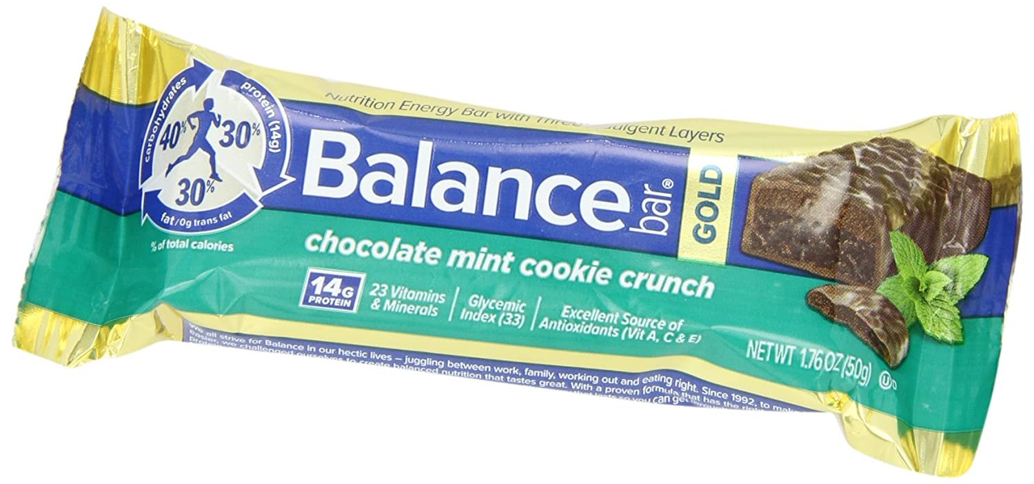 Amazon.com: Balance Bar Gold Energy Bar, Chocolate Mint Cookie ...