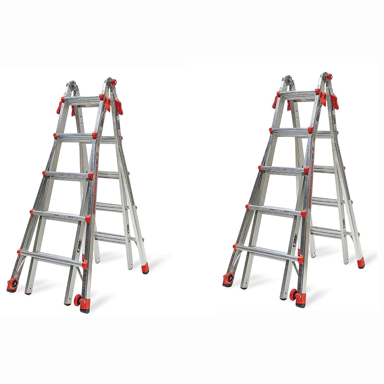 Little Giant Ladder Systems escalera de 22 pies tipo IA multiposición LT (2 unidades): Amazon.es: Industria, empresas y ciencia