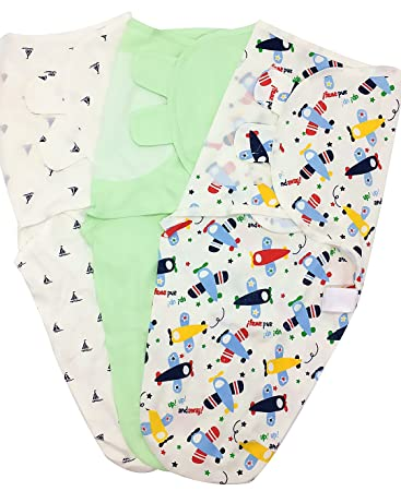 3-6 Months 3-Pack Baby Swaddle Wrap Blanket with Leg Pouch Open for Easy Diaper Change