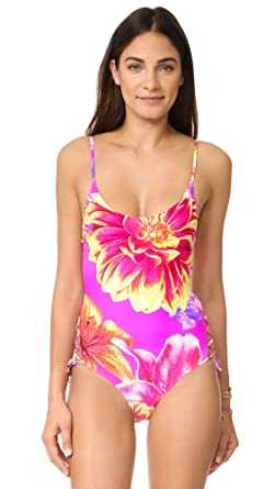 90744c2ea62 6 Shore Road by Pooja Women's Flower Girls Swimsuit, Festival Dahlia, Small