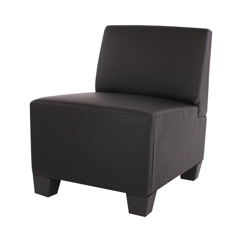 Modular Sessel Sessel Sessel ohne Armlehnen, Mittelteil Lyon, Kunstleder  schwarz 08f726