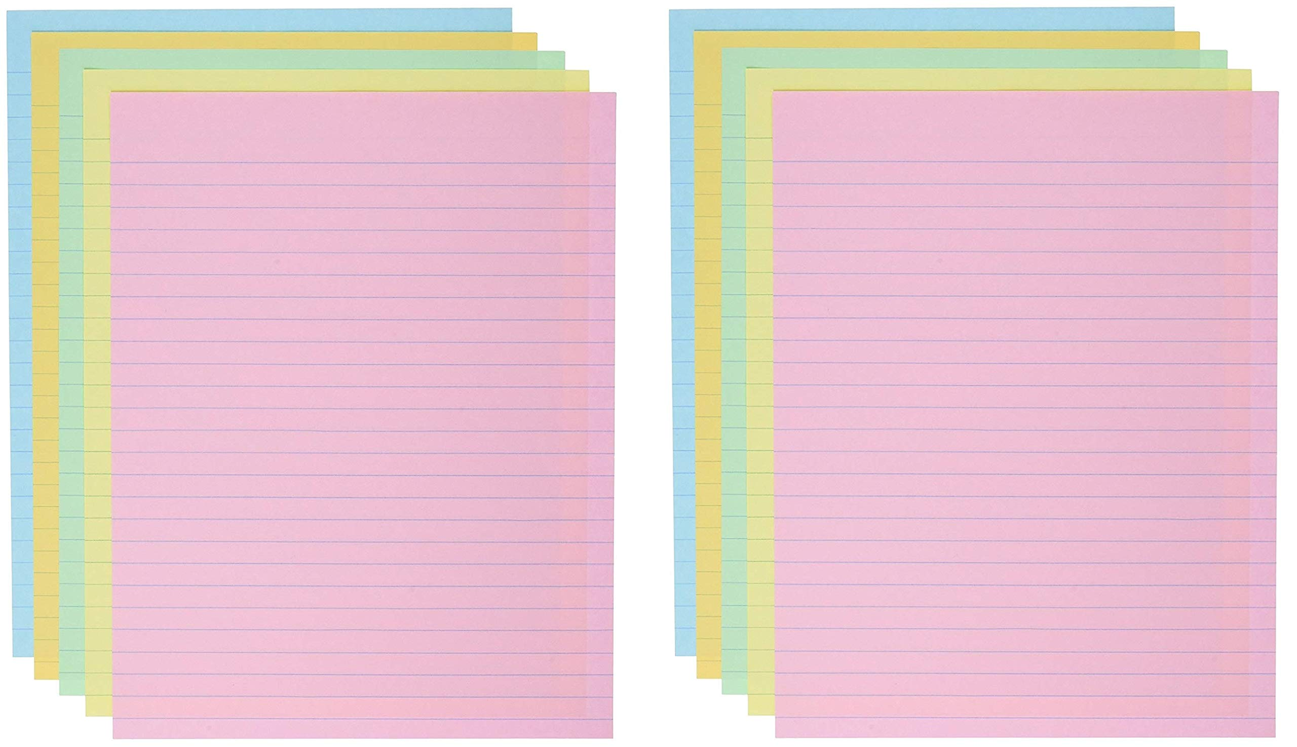 School Smart Ruled Exhibit Paper, 8-1/2 x 11 Inches, Assorted Colors, (2 X Pack of 500) by School Smart (Image #1)