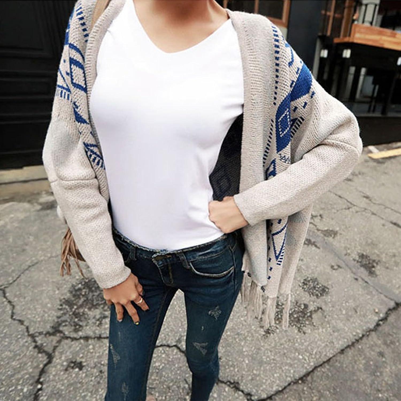 MAGZERO Women's Ethnic Style Tassel Cardigan