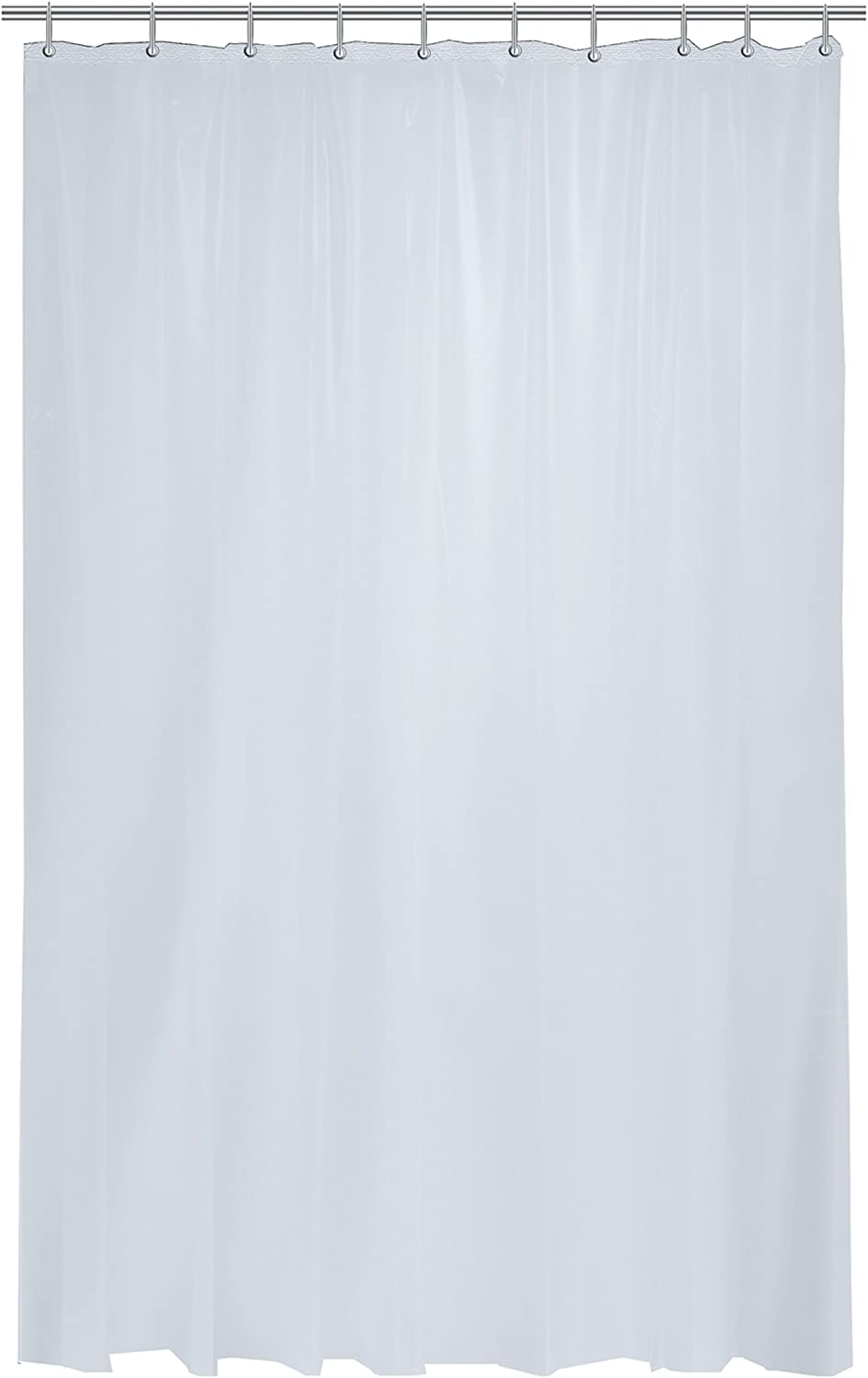 EXCELL Home Fashions Watergard Heavy Weight Vinyl Shower Curtain Liner, Water-Resistant Shower Curtain Liner, Frosty